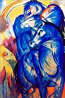 Poster 50 X 50 Cm Das Kleine Blaue Pferd Von Franz Marc
