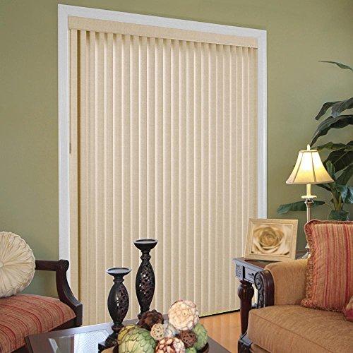 Hampton Bay Textured Khaki Vertical Blind, 3.5 in. Vanes (Price Varies by Size)