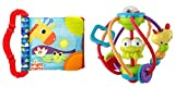 Baby Activity Set - Activity Ball & Baby First Book Set Bright Starts Clack & Slide Activity Ball and Bright Starts Teethe & Read Book
