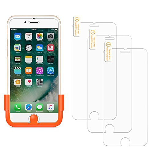 GUSGU [3 Pack] Glass Screen Protector Compatible for iPhone 8/7/6S /6 Tempered Glass Screen Protector Compatible iPhone 7/8/6/Apple 4.7 [Simple Installation, Scratch Free