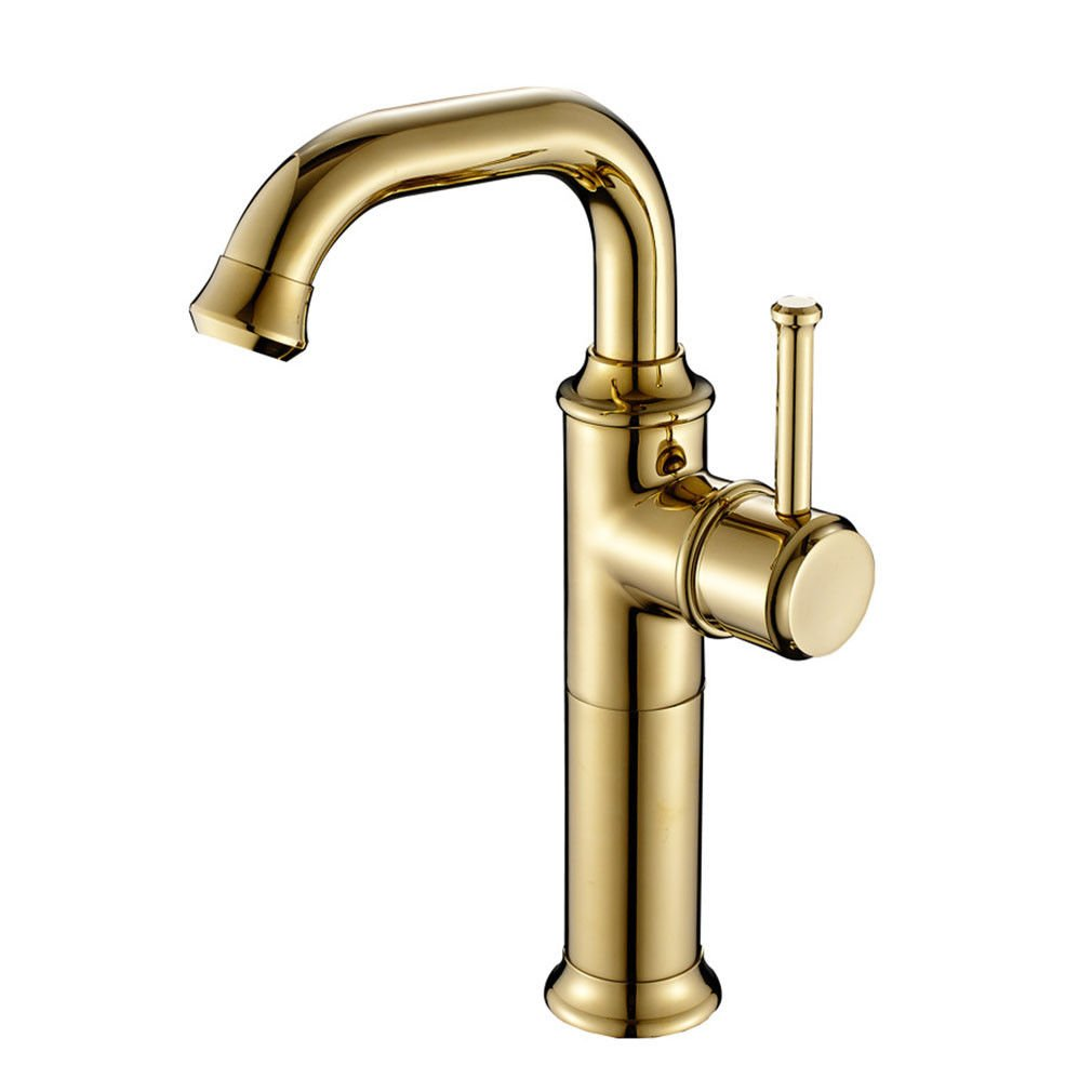 gold LHbox Basin Mixer Tap Bathroom Sink Faucet European retro-copper single handle single hole basin mixer high redation of,antique