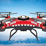 USHOT JJRC H8D 6-Axis Gyro 5.8G FPV RC Quadcopter Drone HD Camera With Monitor- Drones/Drone Charger/Quadcopter Drone Batteries/RC Helicopter Parts /