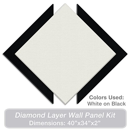"ADW Acoustic Panels 40"" X 34"" X 2"" Diamond Layer Kit – Quick Easy DIY Install - Various Color Combos by Acoustic Design Works"