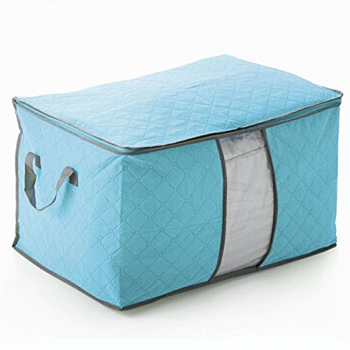JUJU MALL-Large Clothes Blankets Under Bed Storage Bags Bamboo fiber Quilt Container (Velvet Pool Cue Case)