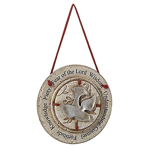 Catholic Gifts of the Holy Spirit Confirmation Hanging Wall Plaque, 4 1/2 -