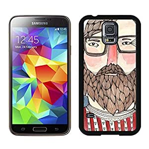 linJUN FENGCool Samsung Galaxy S5 Case Charlie Design Durable Soft Silicone Rubber Black Phone Cover