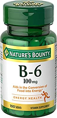 Nature's Bounty Vitamin B-6 100 mg, 100 Tablets