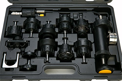 8MILELAKE 18pcs Radiator Pump Pressure Tester and Vacuum Pump Type Cooling System Kit by 8MILELAKE (Image #5)