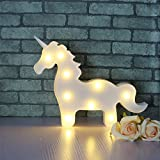 Unicorn Led Children Animal Night Light Nursery Lamp Bedroom Decoration Indoor Use, Home Or Holiday Wall Mountable Free Standing