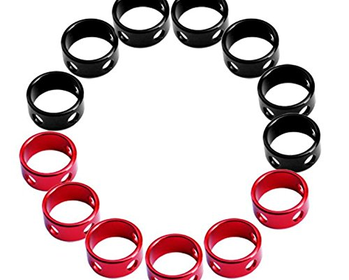 Tozz Pro 35 pcs Red Color Aluminum Tent Rings Cord Tensioners for Camping Hiking Backpacking Picnic Shelter Shade Canopy Outdoor Activity