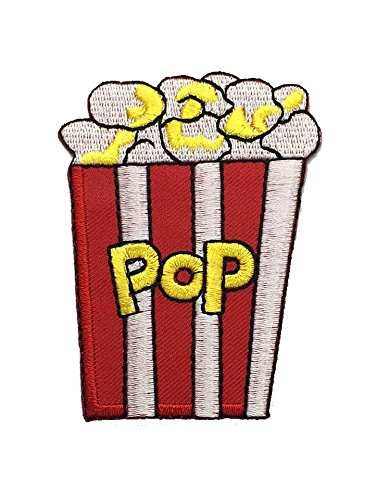Caramel Popcorn Movie Snack DIY Applique Embroidered Sew Iron on Patch p#347 ()