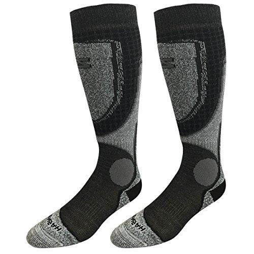 Zensah Far Infrared Ski Socks, Heather Silver, Large