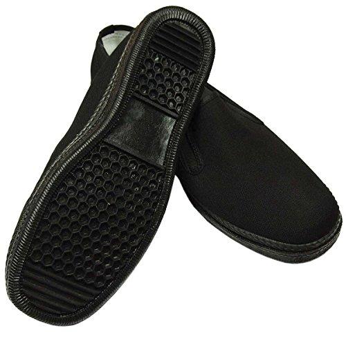 Kung Fu Schuhe mit schwarzer Gummisohle