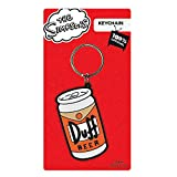 Genuine The Simpsons Duff Beer Rubber Keyring Key