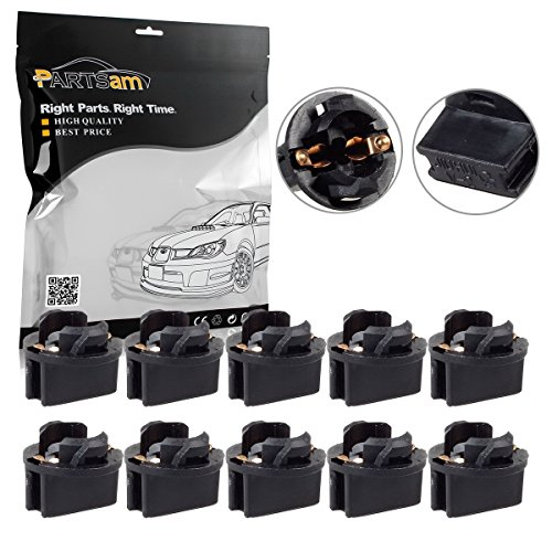 Cluster Twist - Partsam 10x T10 168 Twist Lock Wedge Instrument Panel Dash Light Gauge Cluster Bulbs Base Sockets