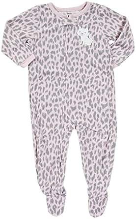 Carter's L/S Footed Blanket Sleeper - Leopard Kitty- 2T