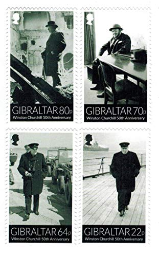 Winston Churchill - Wartime Leader of Britain - 50th Memorial Anniversary Sheet - Beautiful Collectors Stamps - Gibraltar