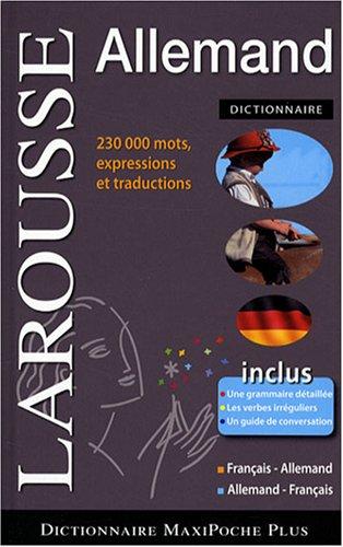Dictionnaire Maxipoche plus français-allemand/allemand-français