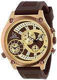 Joshua & Sons Men's JS-13-BR Duel Time Quartz Chronograph Strap Watch
