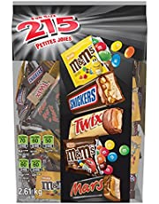 MARS ASSORTED M&M'S Peanut, M&M'S Milk Chocolate, Mars, Snickers, & Twix Halloween Candy Bars Variety Mix 2.61Kg 215-Piece Bag, 2.61 Kilogram