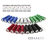 FASTPRO 20-pack Aluminum LED Flashlights Set, 6-LED for brightness, with Lanyard for hang up, 60-piece Batteries Included, with Assorted Colors, Great for Camping, Hiking, Hunting, Fishing and BBQ