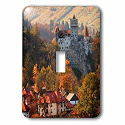 3dRose Danita Delimont - Castles - Transylvania, Romania, 13th century Castle stand above an autumn town. - Light Switch Covers - single toggle switch (lsp_277867_1)