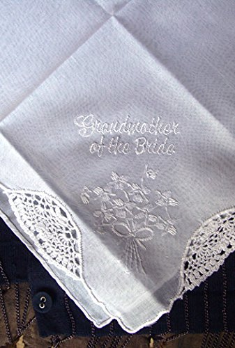 Wayhome Fair Wedding Handkerchiefs Grandmother of The Bride - Excellent Home Decor - Indoor & Outdoor