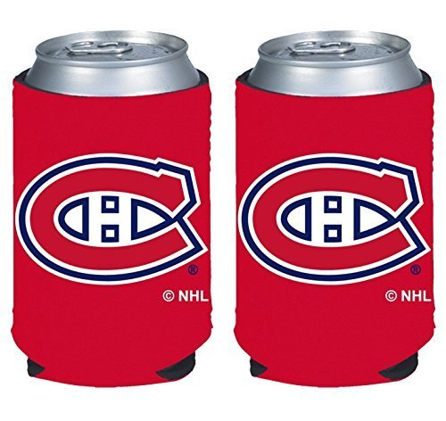 fan products of NHL Hockey 2014 Team Color Logo Can Kaddy Holder Koozie Cooler 2-Pack (Montreal Canadiens)