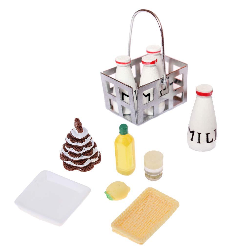 Amazon.es: F Fityle Modelo Adornos de Cocina Miniatura Comida Pastel para Casa de Muñecas Escala 1/12: Juguetes y juegos