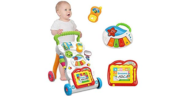 Amazon.com: Juesi - Andador de aprendizaje con 4 ruedas ...