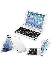ARTECK iPad Mini 5 / Mini 4 Keyboard, Ultra-Thin Apple iPad Mini Bluetooth Keyboard Folio Stand Groove for Apple iPad Mini 5 (2019) iPad mini 4 (2015) with 130 Degree Swivel Rotating
