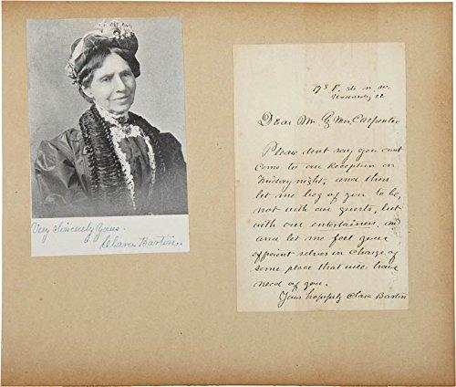 Clara Barton Autograph Letter Signed co signed By: Major General Benjamin F. Butler