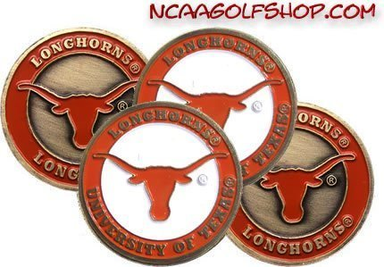 - (4) Texas Longhorns Golf Ball Markers