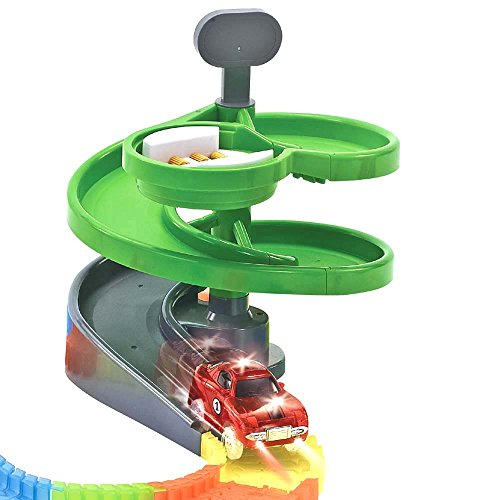 QUOXO Green Rotating Stage, Magic Track Accessory (Rotary Tower)
