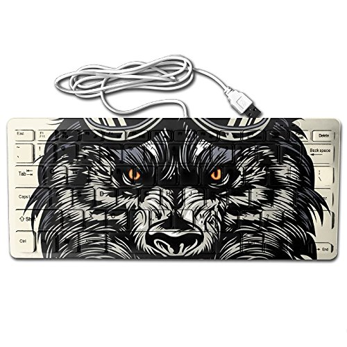 2017 Mini A Wolf Compatible Wired USB Keyboard Typing Gaming Experience ABS