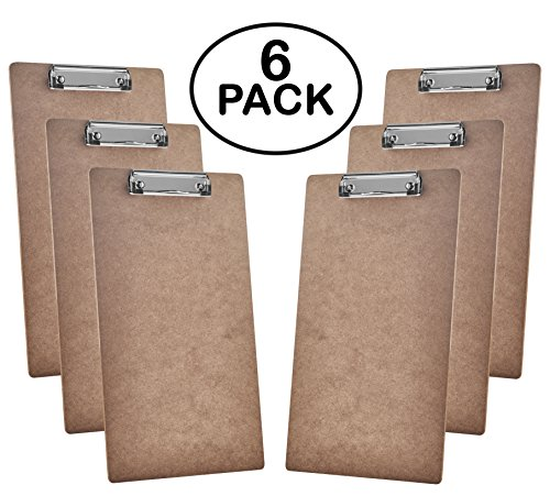 Acrimet Clipboard Legal Size Low Profile Clip Hardboard (6 - Pack)
