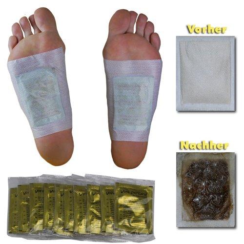 100 x Vita Patchy® Vitalpflaster Gold mit hochwertigem Turmalin Fusspflaster Pflaster Pad Entgiften Entgiftung Detox