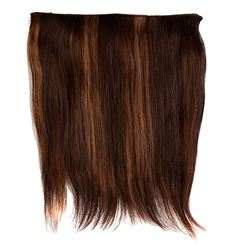 "Hair Etc. All In One Human Hair Blend Hair Extension - 16""- Non Clip In – Easy Adjustable Strap"