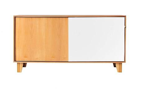 Credenza Con Ante Scorrevoli : Credenza cassettiera in legno con 2 ante scorrevoli dal design