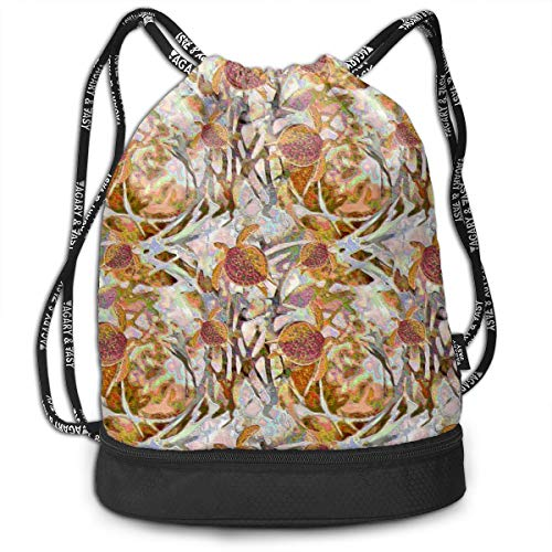 - Laura Enameled Turtles Men Women Waterproof Drawstring Backpack Sports Dance Storage Bags Sackpack Gym Traveling Outdoor