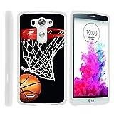 G3 Phone Case, Hard Shield Phone Case Hard Jacket with Unique Designs for LG G3 (D850, D851, D855, VS985, LS990, US990) by MINITURTLE - Basketball Swish