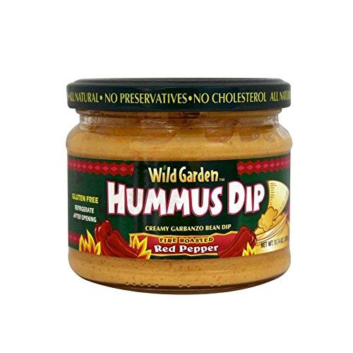 Wild Garden Hummus, Fire Roasted Pepper, 10.74 OZ (PACK -1) - Wild Garden Hummus Dip