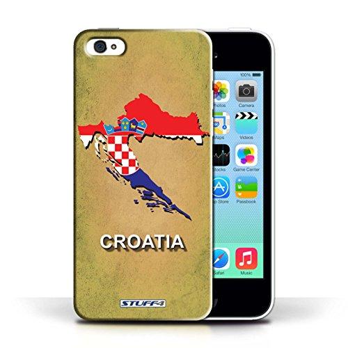 Kobalt® Imprimé Etui / Coque pour Apple iPhone 5C / Croatie/Croate conception / Série Drapeau Pays