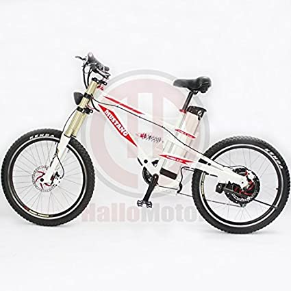 Amazon.com : Powerful White Frame 48V 1000W Mustang Mountain Ebike+ ...