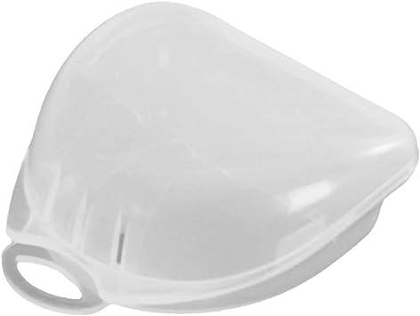 Pudincoco caja de plástico transparente protector bucal ortodoncia retenedor dental caja de almacenamiento de prótesis protector bucal contenedor contenedor: Amazon.es: Salud y cuidado personal