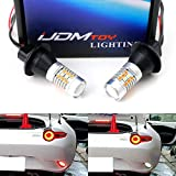 iJDMTOY (2) 28-SMD Red/White LED Backup Reverse Light/Rear Fog Lamp Conversion For 2016-up Mazda MX-5 ND