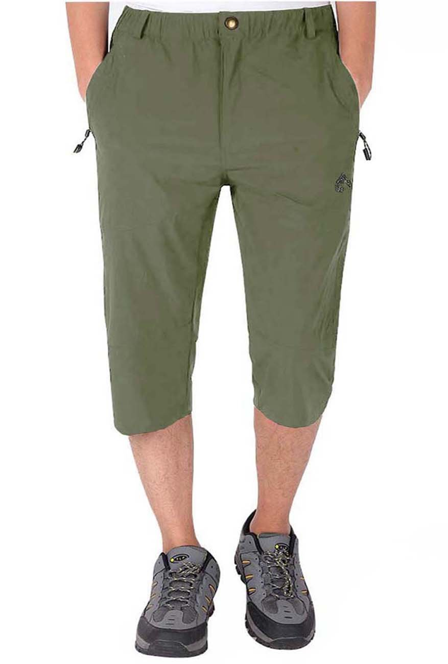 LASIUMIAT Mens Summer Capri Pants 3//4 Loose-Fit Casual Work Pants Outdoor Sports Hiking Cycling Cropped Trousers LAS-15