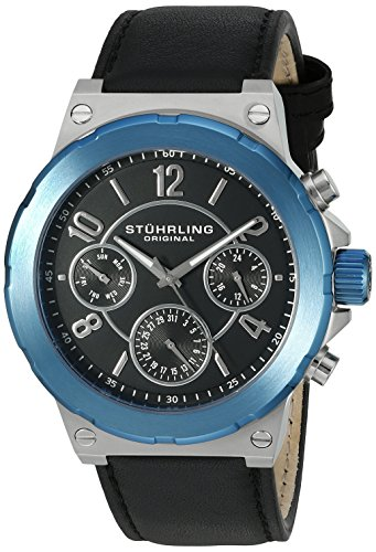 Stuhrling Original Men's 701.02 Leisure Gen X Sirocco Quartz Day and Date Blue Watch