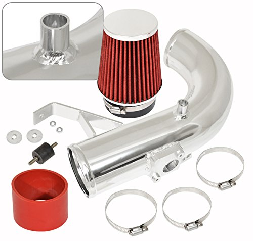 Ajp Distributors Jdm Racing Polish Aluminum Performance Cold Air Intake Induction System Red Filter For Scion Tc