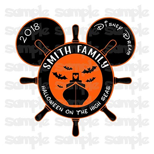 (Disney Halloween Magnet | Halloween on the High Seas | Halloween Disney Cruise Magnet | Family Magnet For Cruise)